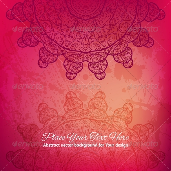 GraphicRiver Abstract Vector Background Elegant Lace Arabesque 6317148