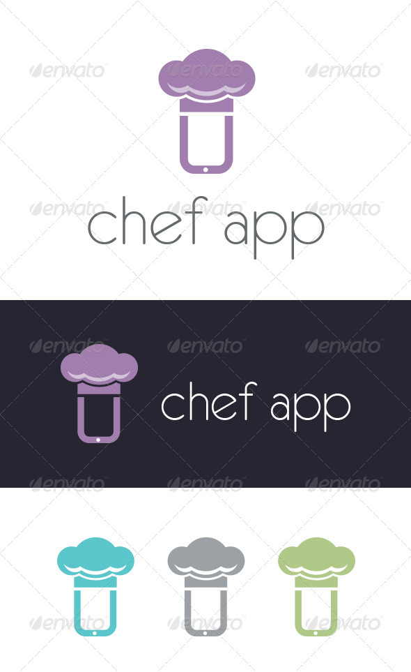 Chef App Logo Template - Vector Abstract