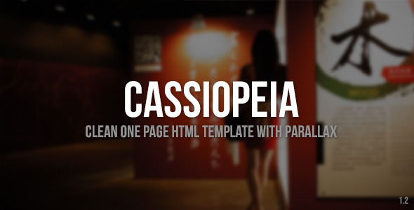 Cassiopeia - Clean One Page Template with Parallax