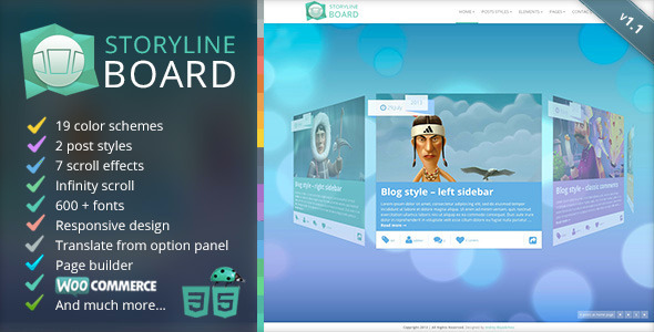 Storyline Board WordPress Theme - Creative WordPress