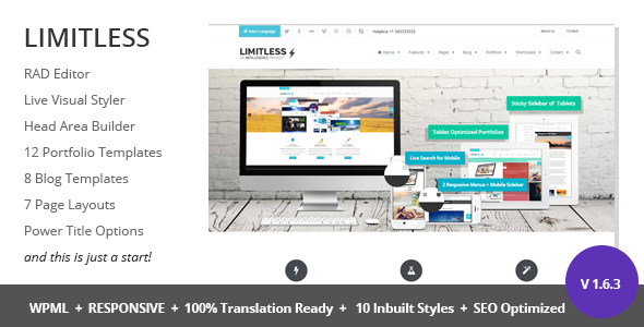 Limitless - Multipurpose Drag n Drop Theme - Corporate WordPress