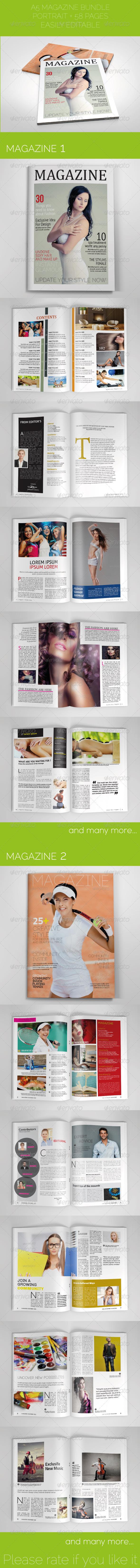 GraphicRiver A5 Magazine Bundle 6319006