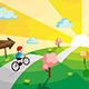Kid Riding Bicycle - GraphicRiver Item for Sale