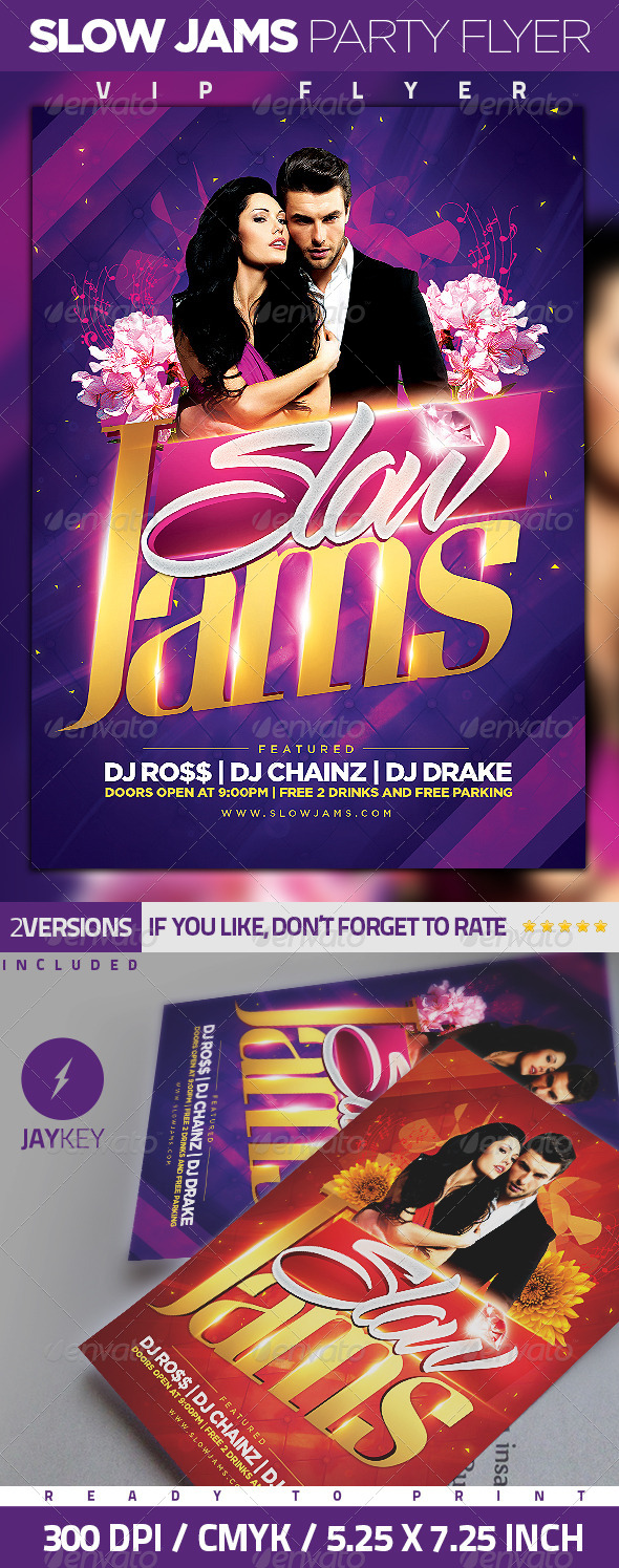 GraphicRiver Slow Jams Party Flyer 6319396