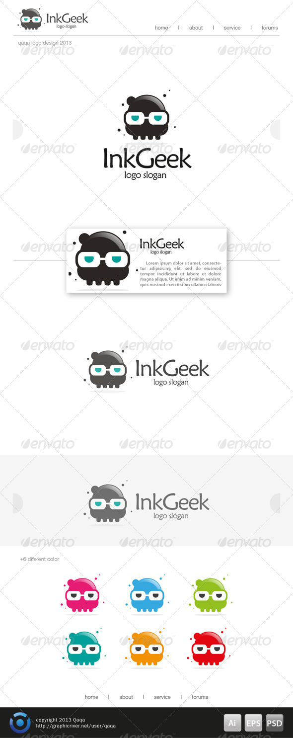 GraphicRiver Ink Geek Logo 6319775