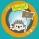 Greeting Card with Cartoon Hedgehog - GraphicRiver Item for Sale