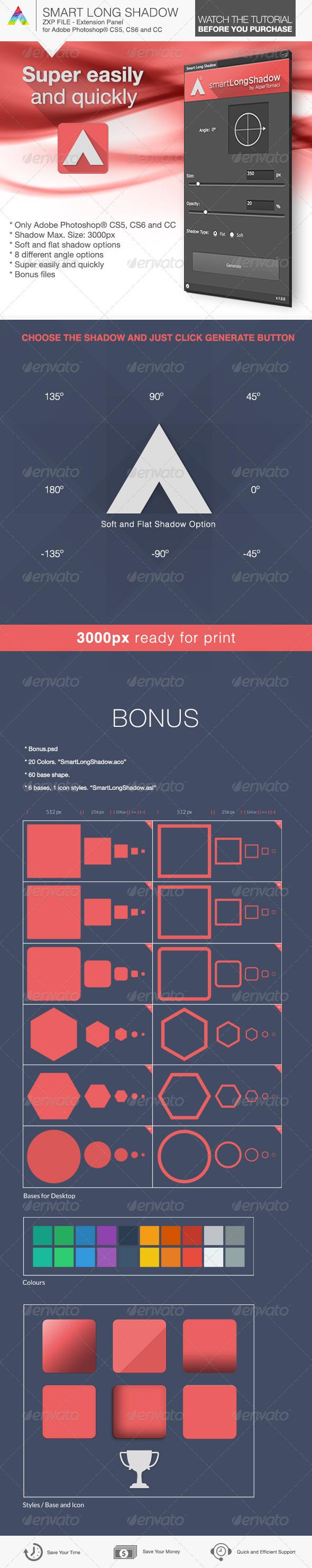 GraphicRiver Smart Long Shadow Panel 6320346