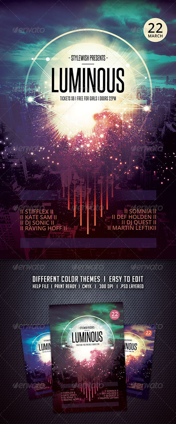 GraphicRiver Luminous Flyer 6320491