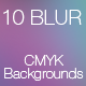 10 Blur CMYK Backgrounds (Pack #1) - GraphicRiver Item for Sale