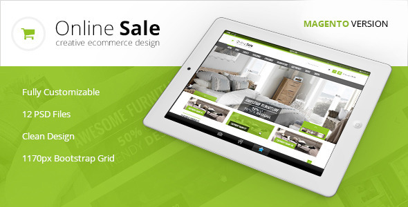 ThemeForest Online Sale Premium Magento Theme 6298317
