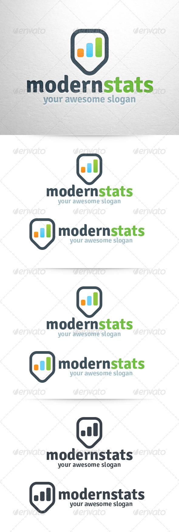 GraphicRiver Modern Stats Logo 6321008