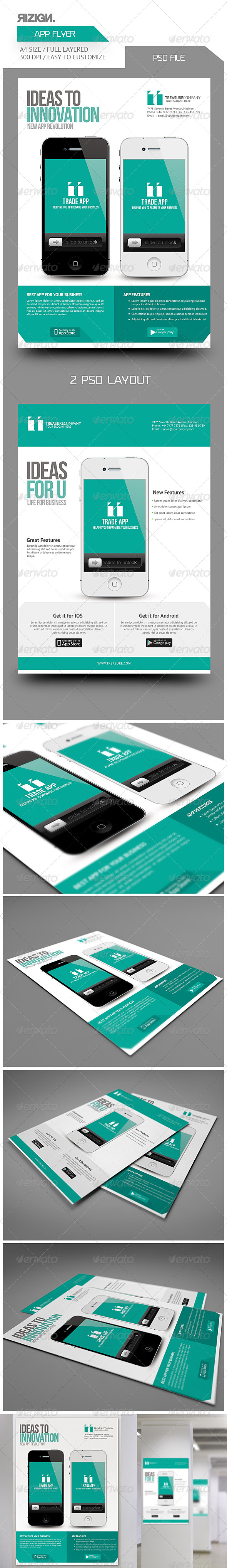 GraphicRiver Mobile App Promotion Flyers 6317024