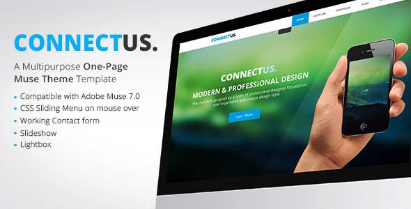 ConnectUs - One Page Muse Theme