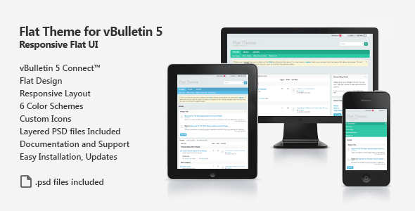 ThemeForest Flat Theme for vBulletin 5 Connect 6321910