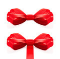 Festive red bow on white background - PhotoDune Item for Sale