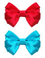 Festive red and blue bow on white background - PhotoDune Item for Sale