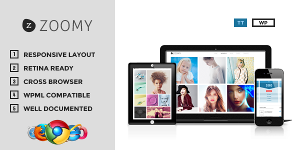 Zoomy - Professional Photography WordPress Theme - Photography Creative