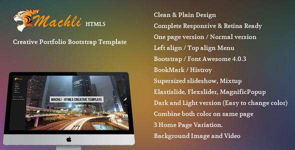 Machli - Simple Plain Creative Bootstrap Template - Creative Site Templates