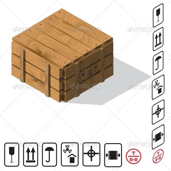 GraphicRiver Wooden Cargo Box Vector 6322747