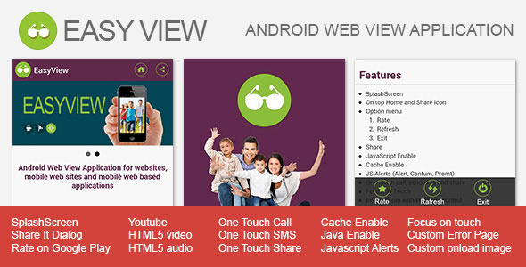 CodeCanyon EasyView Android WebView App 6322777