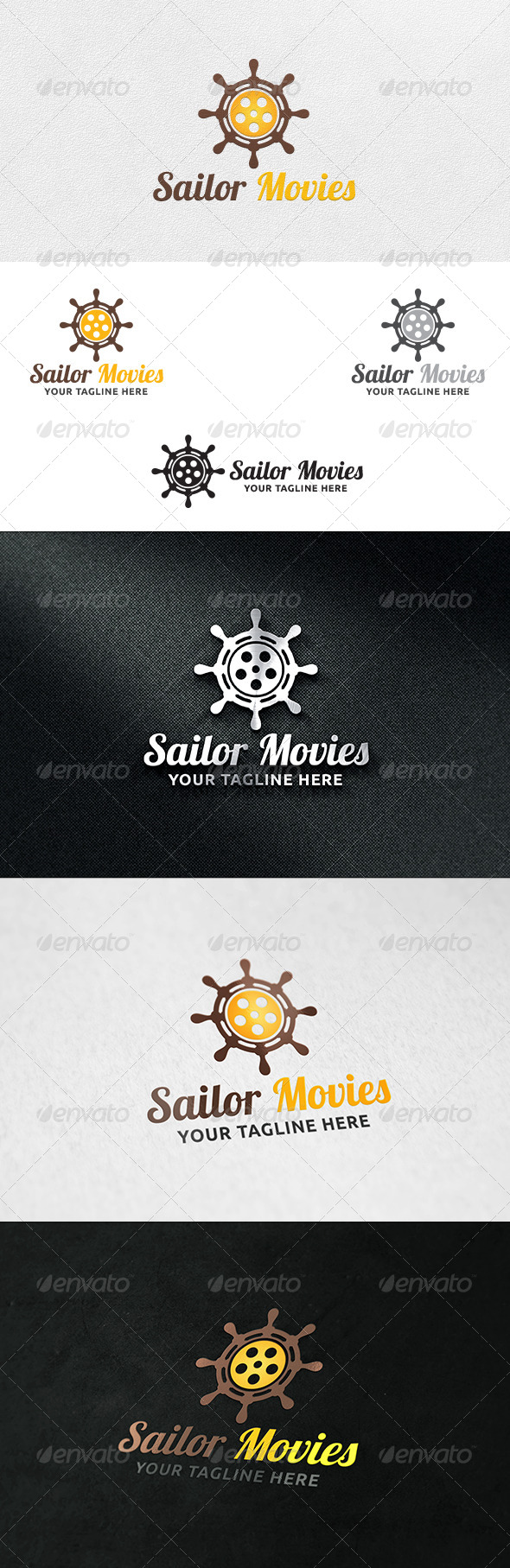 GraphicRiver Helm Movies Logo Template 6320927