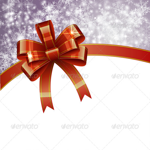 GraphicRiver Christmas Background with Bow 6323215