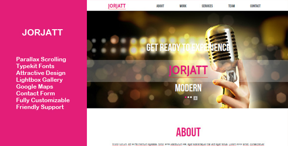Jorjatt - Multi-purpose One Page Muse Template