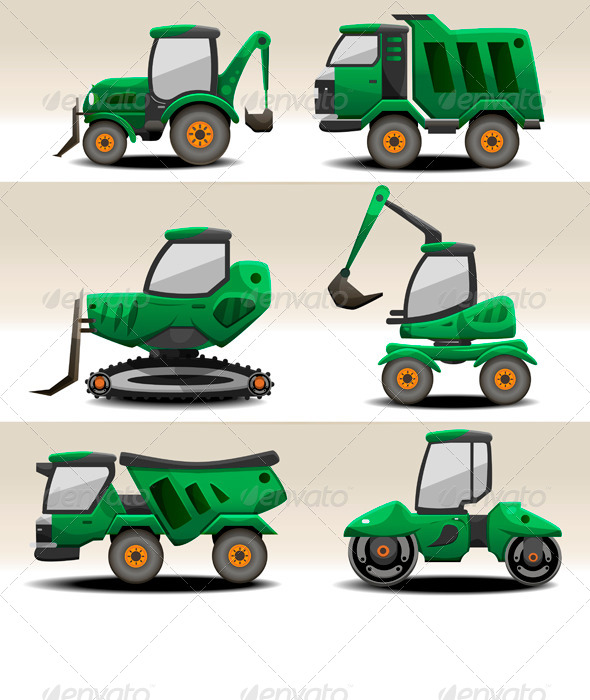 GraphicRiver Road Equipment 6323500
