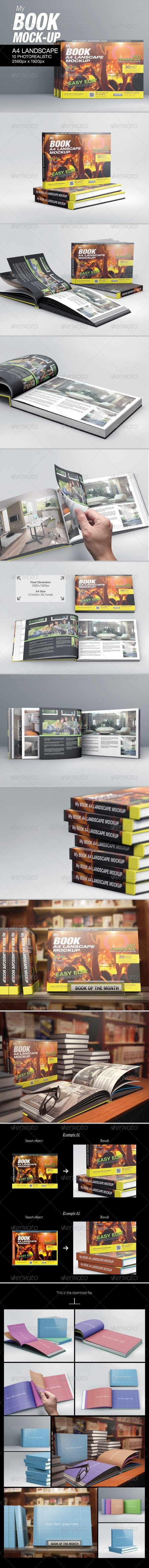 GraphicRiver MyBook A4 Landscape Mock-Up 6323795