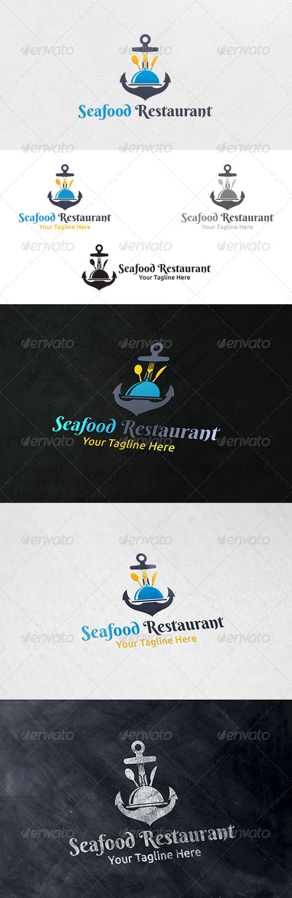 GraphicRiver Seafood Restaurant Logo Template 6323808