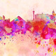 Las Vegas skyline in watercolor background - PhotoDune Item for Sale