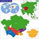 Central Asia Map - GraphicRiver Item for Sale