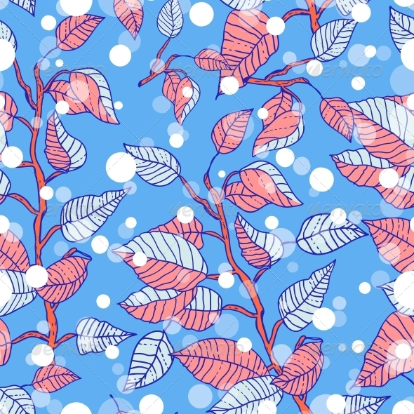 GraphicRiver Winter Seamless Pattern with Branches 6324512