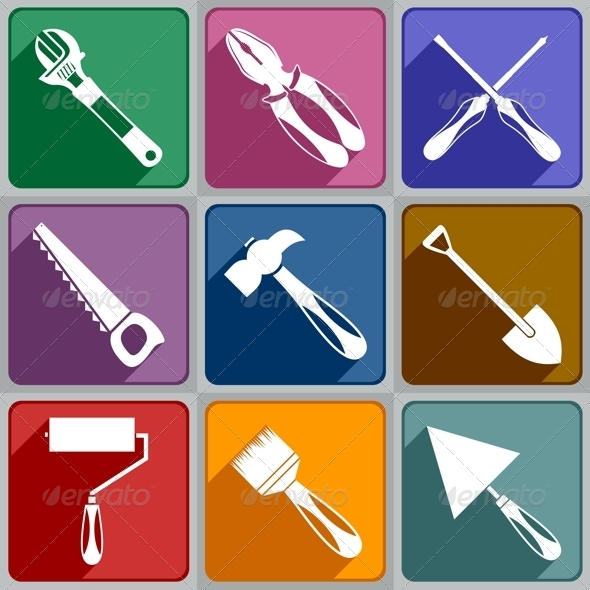 GraphicRiver Icons of Working Tools 6325361