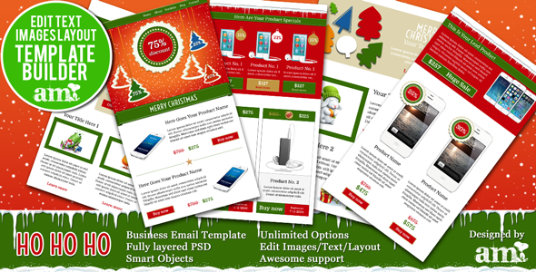 ThemeForest HoHoHo Holiday Business Email HTML With Builder 6325431