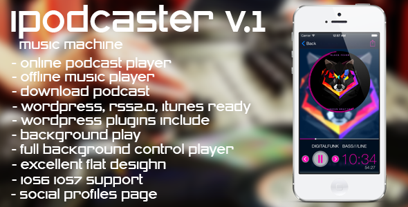 CodeCanyon iPodcaster music machine for iPhone 6325671