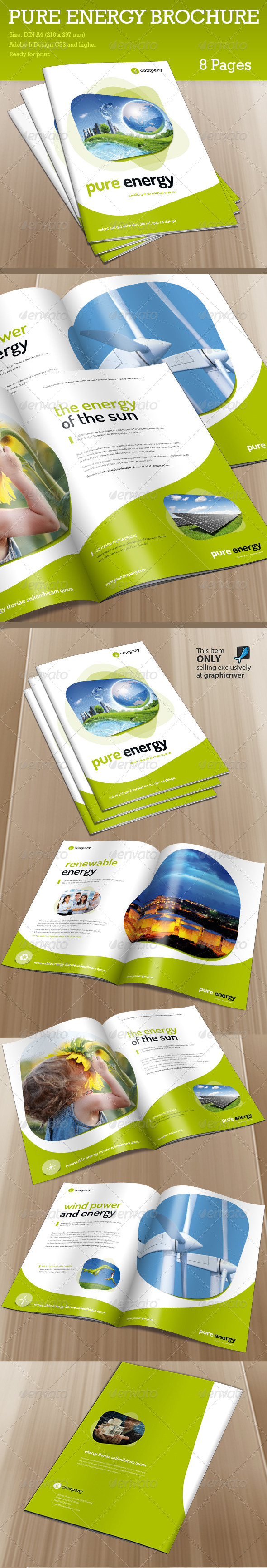 GraphicRiver Brochure Pure Energy 6288690