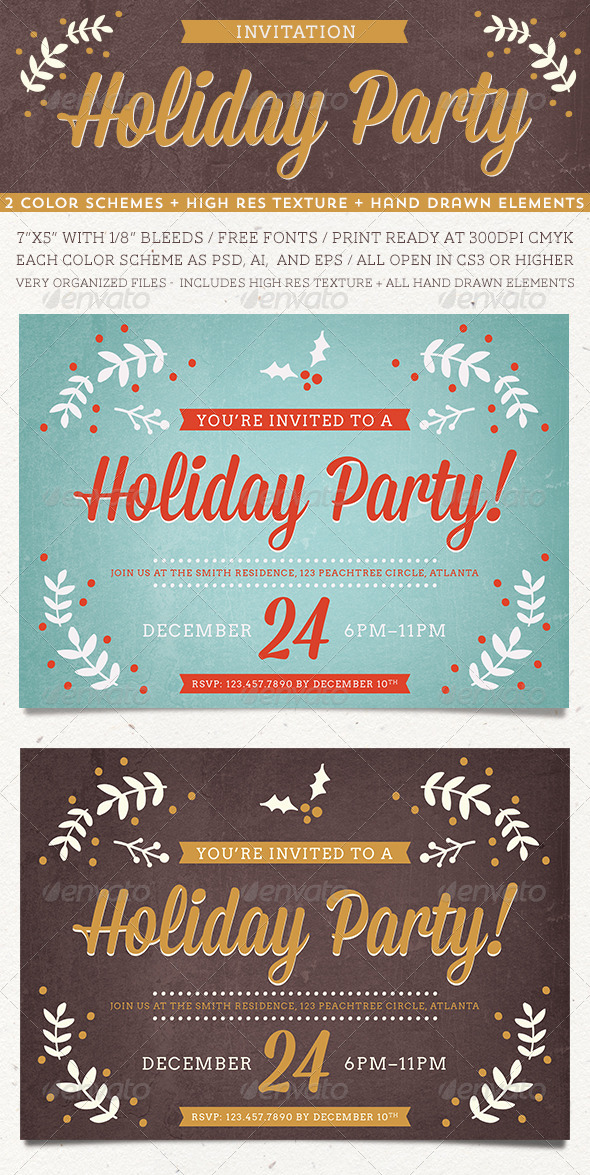 GraphicRiver Holiday Party Invitation 6297172