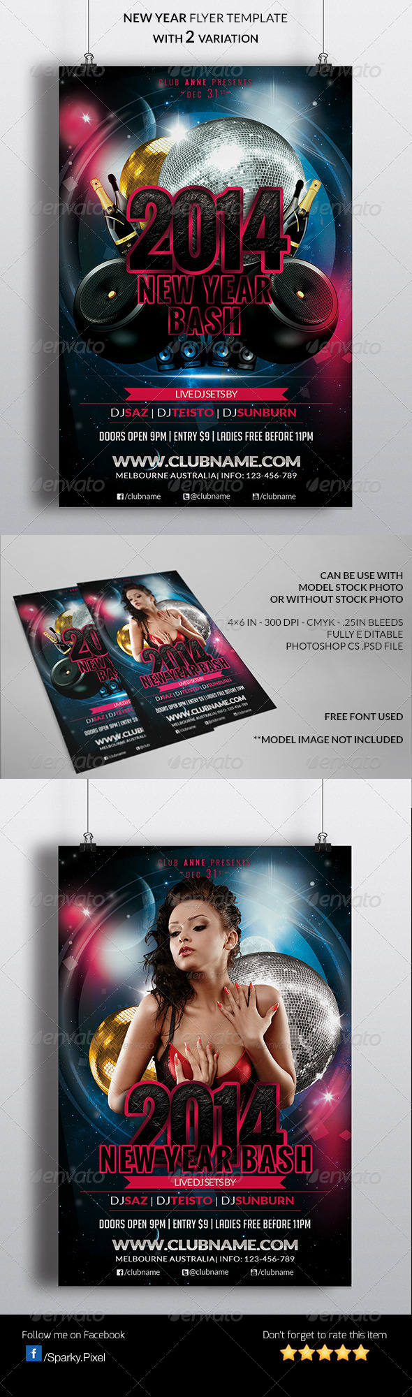 GraphicRiver New Year Party Flyer 6292631