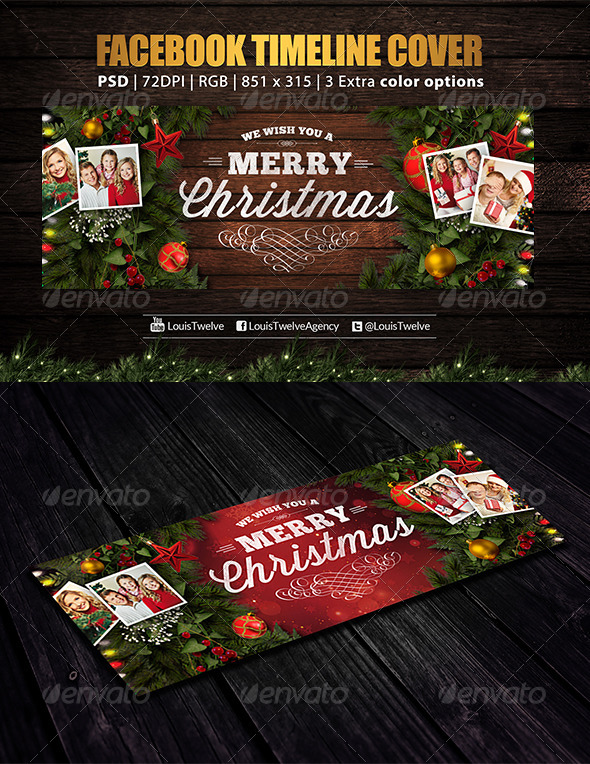GraphicRiver Family Christmas 2 Facebook Cover 6327008