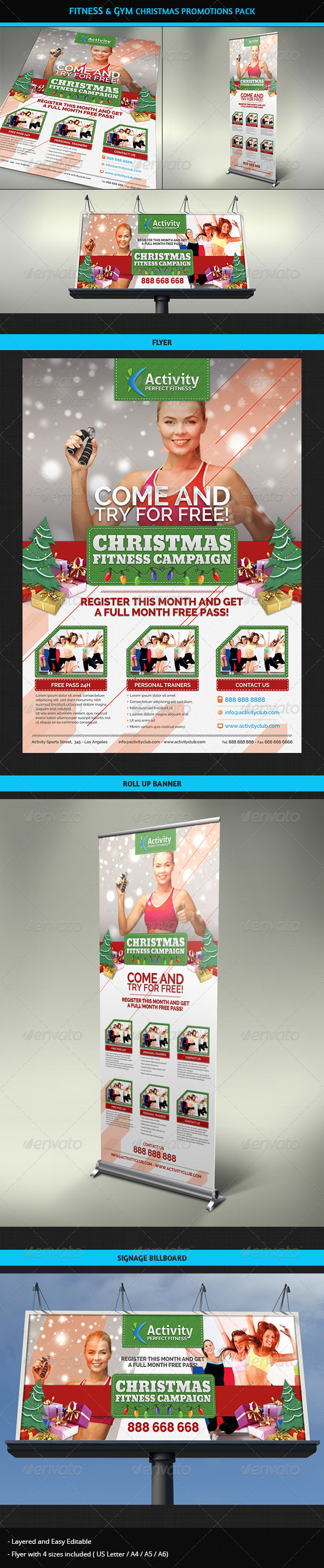 GraphicRiver Fitness & Gym Christmas Promotions Pack 6327054