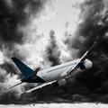 Jet cruising in a dark stormy sky - PhotoDune Item for Sale