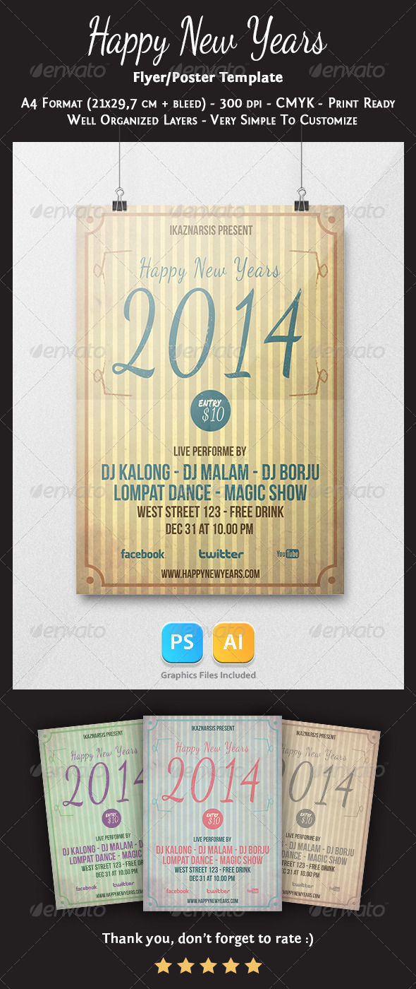 GraphicRiver Happy New Years Flyer Template Vol.2 6327178