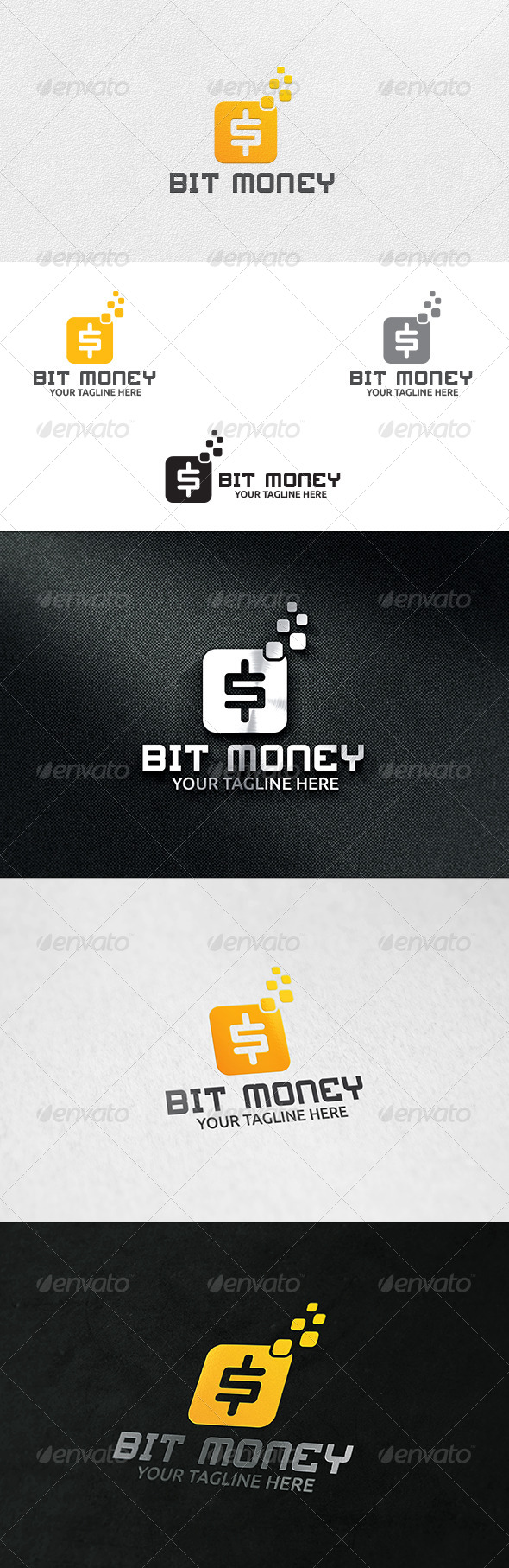 GraphicRiver Bit Money Logo Template 6328445