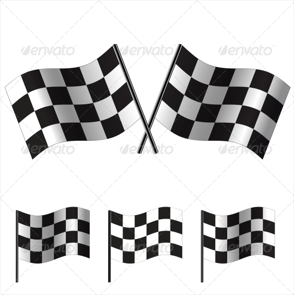 GraphicRiver Checkered Racing Flags 6328504