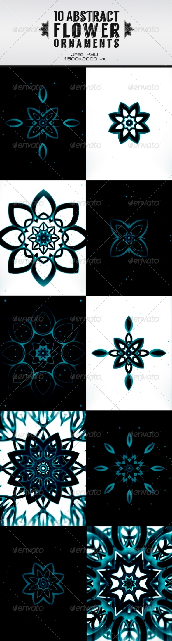 GraphicRiver 10 Abstract Flower Ornament 6309848