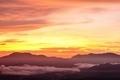 Sunrise over village in the mist after rain. - PhotoDune Item for Sale