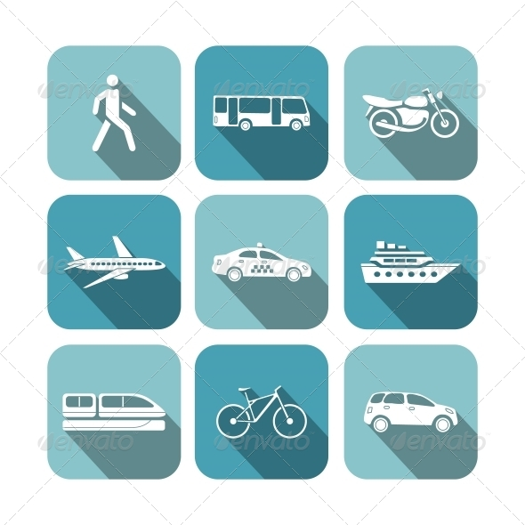 GraphicRiver Transportation Icons Set 6329123