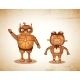 Hipster Friendly Robots - GraphicRiver Item for Sale