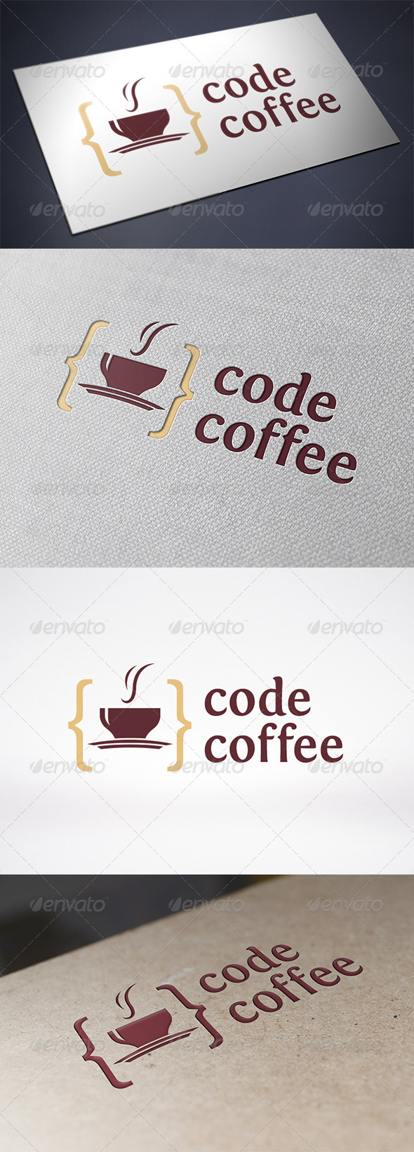 Code Coffee Logo Template - Food Logo Templates